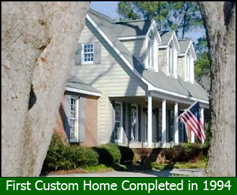 First custom home completed in 1994