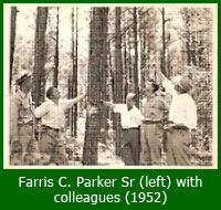 Farris C. Parker Senior with colleagues; 1953